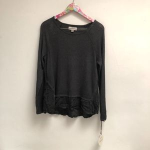 NWT Gray Knox Rose long sleeve top size M